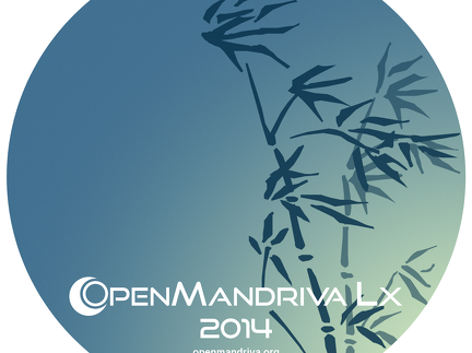 Printable CD/DVD label for OpenMandriva Lx 2014.0